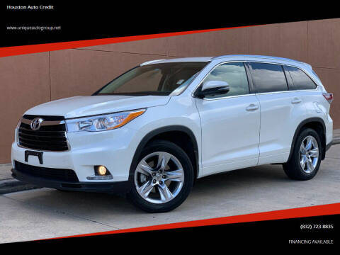 2015 Toyota Highlander for sale at Houston Auto Credit in Houston TX