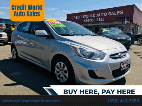 2016 Hyundai Accent for sale at Credit World Auto Sales in Fresno CA
