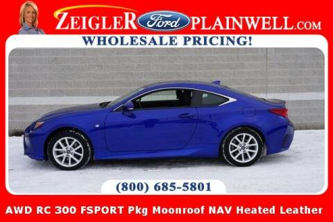 2017 Lexus RC 300 for sale at Zeigler Ford of Plainwell- Jeff Bishop in Plainwell MI