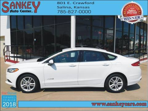 2018 Ford Fusion Hybrid for sale at Sankey Auto Center, Inc in Salina KS