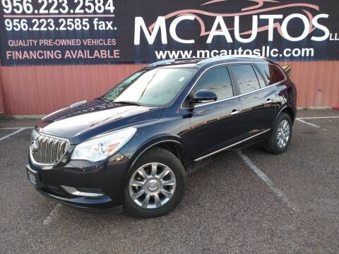 2015 Buick Enclave for sale at MC Autos LLC in Pharr TX