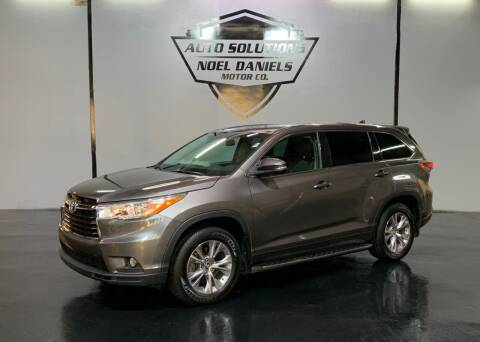 2016 Toyota Highlander for sale at Noel Daniels Motor Company in Ridgeland MS