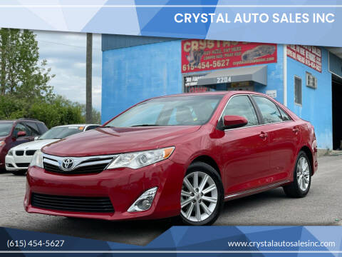 2012 Toyota Camry for sale at Crystal Auto Sales Inc in Nashville TN