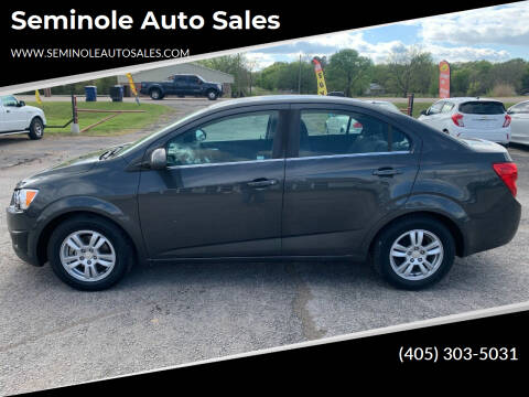 2016 Chevrolet Sonic for sale at Seminole Auto Sales in Seminole OK