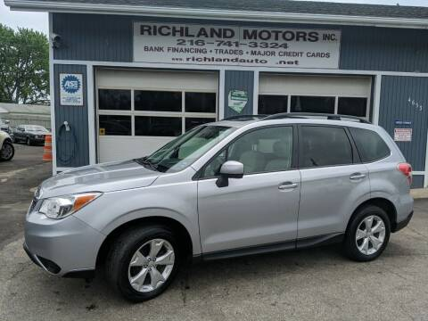2016 Subaru Forester for sale at Richland Motors in Cleveland OH
