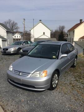 2001 Honda Civic for sale at Village Auto Center INC in Harrisonburg VA