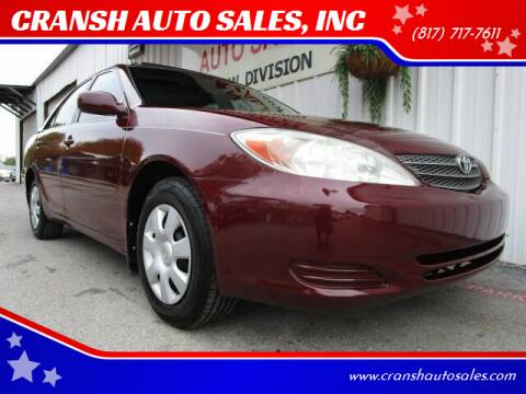 2004 Toyota Camry for sale at CRANSH AUTO SALES, INC in Arlington TX