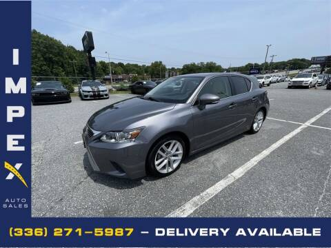 2015 Lexus CT 200h for sale at Impex Auto Sales in Greensboro NC
