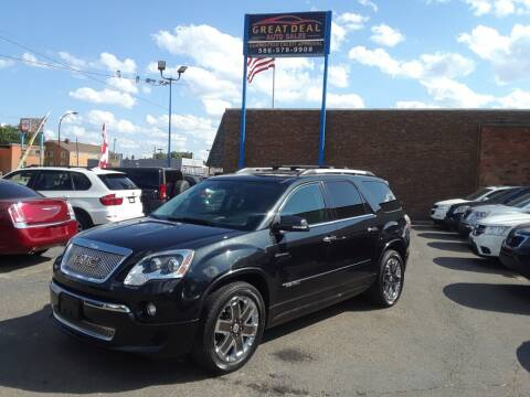 2012 GMC Acadia for sale at GREAT DEAL AUTO SALES in Center Line MI