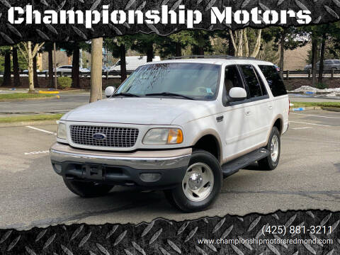 1999 Ford Expedition for sale at Championship Motors in Redmond WA