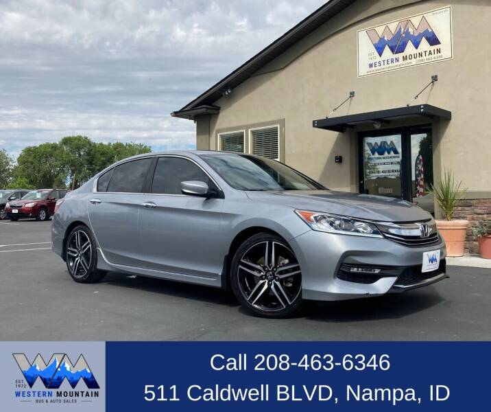2016 Honda Accord for sale at Western Mountain Bus & Auto Sales in Nampa ID
