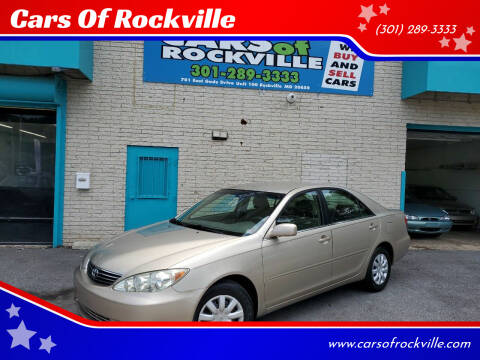 2005 Toyota Camry for sale at Cars Of Rockville in Rockville MD