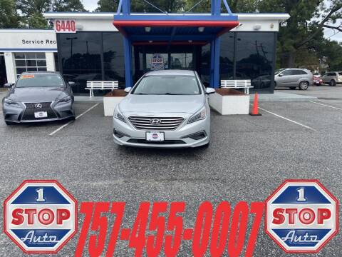 2015 Hyundai Sonata for sale at 1 Stop Auto in Norfolk VA