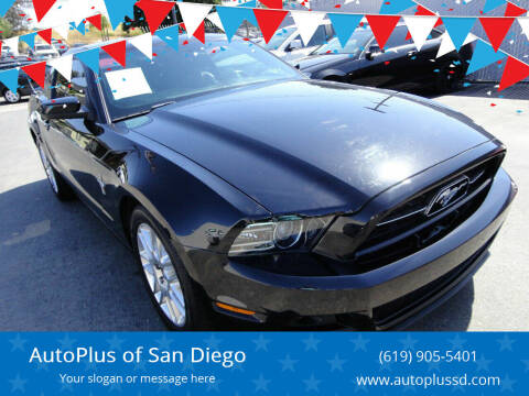2013 Ford Mustang for sale at AutoPlus of San Diego in Spring Valley CA