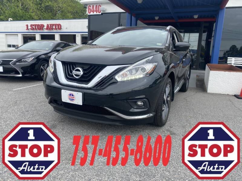 2017 Nissan Murano for sale at 1 Stop Auto in Norfolk VA