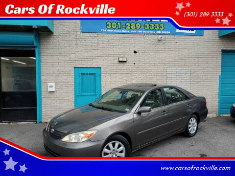2002 Toyota Camry for sale at Cars Of Rockville in Rockville MD