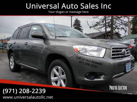 2010 Toyota Highlander for sale at Universal Auto Sales Inc in Salem OR