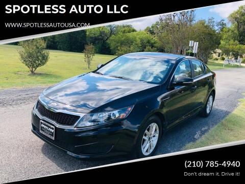 2011 Kia Optima for sale at SPOTLESS AUTO LLC in San Antonio TX