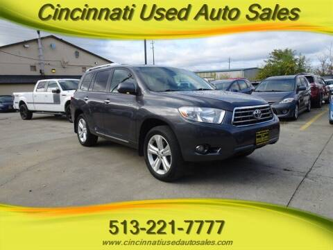 2010 Toyota Highlander for sale at Cincinnati Used Auto Sales in Cincinnati OH