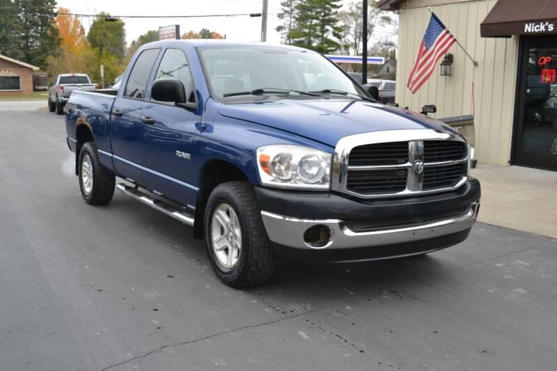 2008 Dodge Ram Pickup 1500 for sale at Nick's Motor Sales LLC in Kalkaska MI