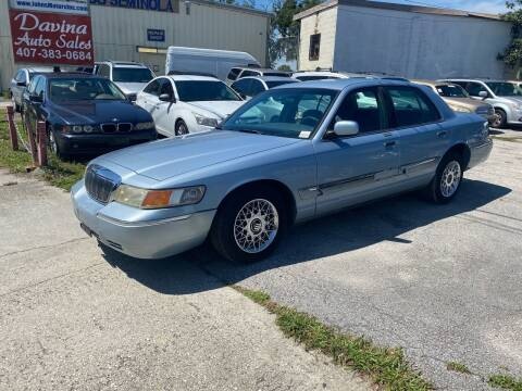 2000 Mercury Grand Marquis for sale at DAVINA AUTO SALES in Orlando FL