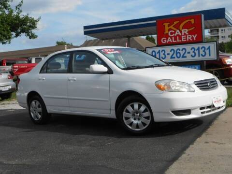 2003 Toyota Corolla for sale at KC Car Gallery in Kansas City KS