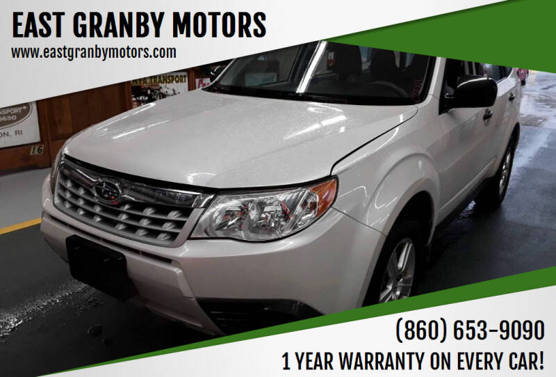 2013 Subaru Forester for sale at EAST GRANBY MOTORS in East Granby CT