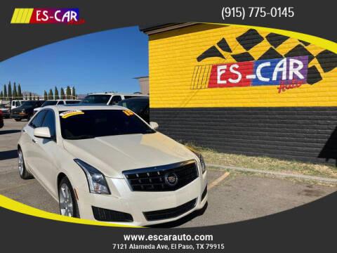 2013 Cadillac ATS for sale at Escar Auto - 9809 Montana Ave Lot in El Paso TX