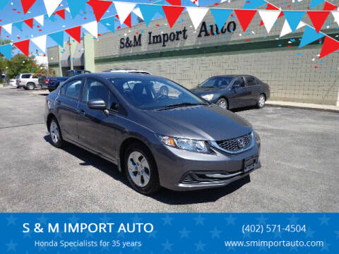 2015 Honda Civic for sale at S & M IMPORT AUTO in Omaha NE