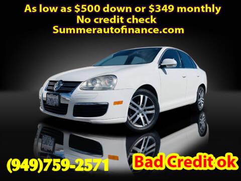 2006 Volkswagen Jetta for sale at SUMMER AUTO FINANCE in Costa Mesa CA