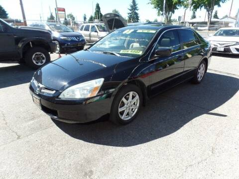 2003 Honda Accord for sale at Gold Key Motors in Centralia WA