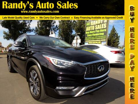 2017 Infiniti QX30 for sale at Randy's Auto Sales in Ontario CA