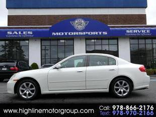 2006 Infiniti G35 for sale at Highline Group Motorsports in Lowell MA