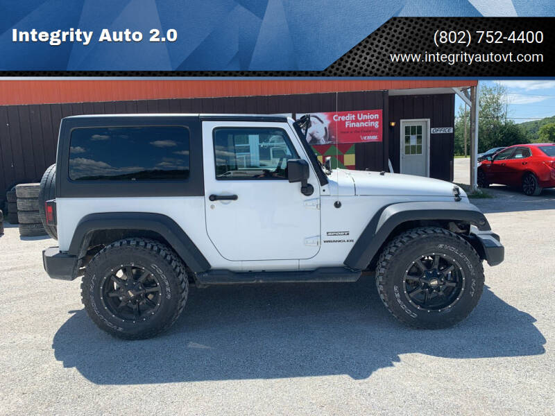 2014 Jeep Wrangler for sale at Integrity Auto 2.0 in Saint Albans VT