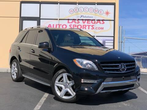 2015 Mercedes-Benz M-Class for sale at Las Vegas Auto Sports in Las Vegas NV