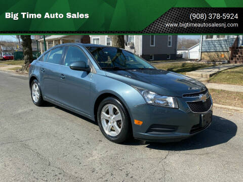 2012 Chevrolet Cruze for sale at Big Time Auto Sales in Vauxhall NJ
