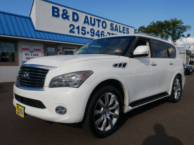 2012 Infiniti QX56 for sale at B & D Auto Sales Inc. in Fairless Hills PA