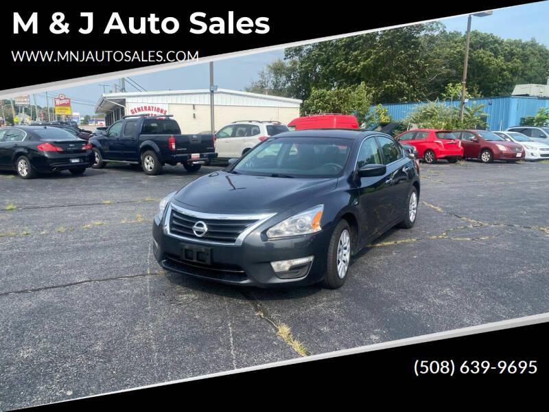 2013 Nissan Altima for sale at M & J Auto Sales in Attleboro MA