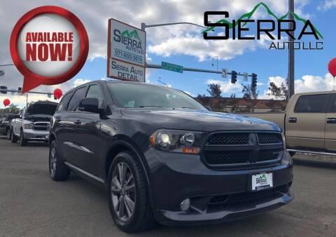 2013 Dodge Durango for sale at SIERRA AUTO LLC in Salem OR