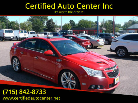 2012 Chevrolet Cruze for sale at Certified Auto Center Inc in Wausau WI