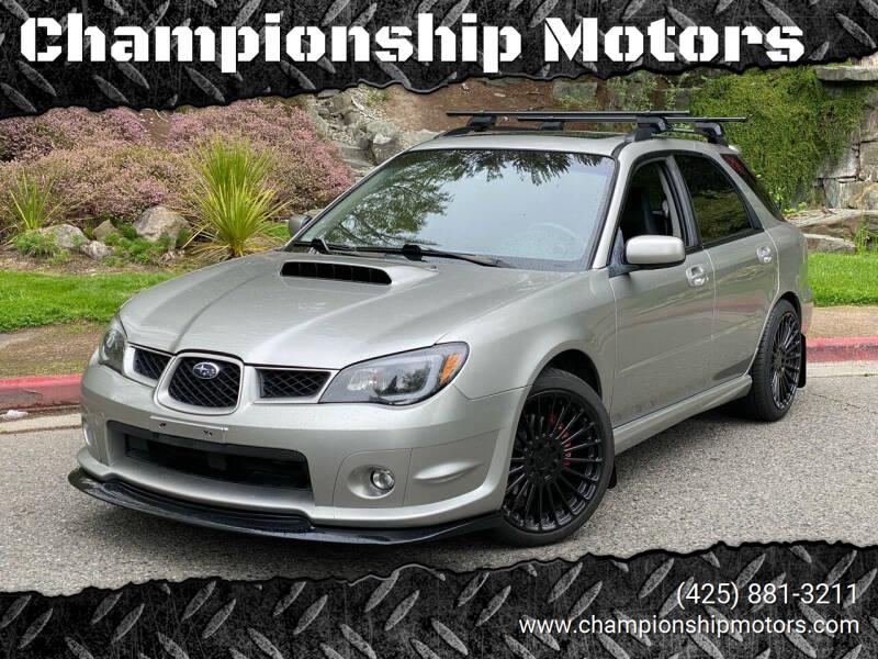 2006 Subaru Impreza for sale at Championship Motors in Redmond WA