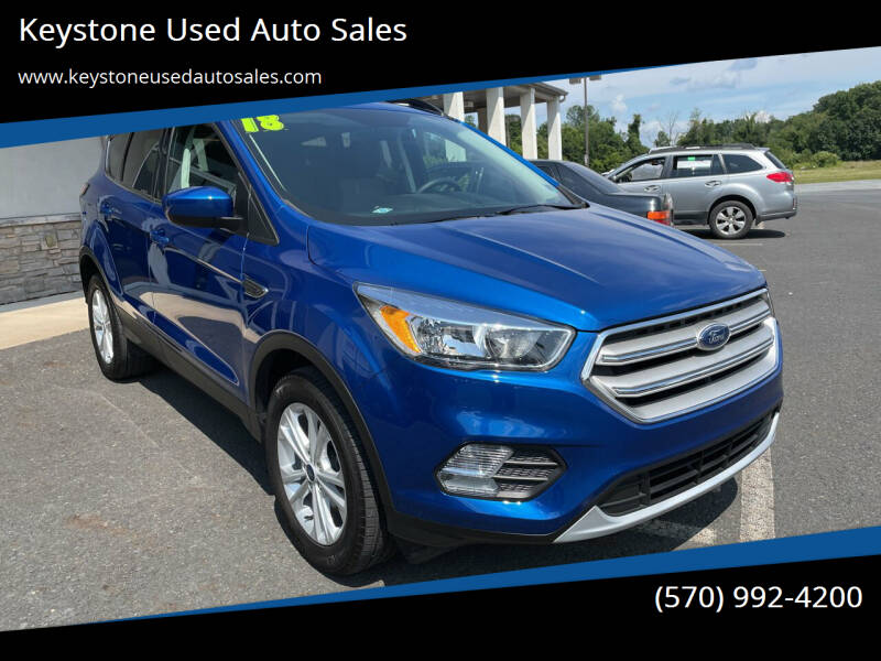 2018 Ford Escape for sale at Keystone Used Auto Sales in Brodheadsville PA