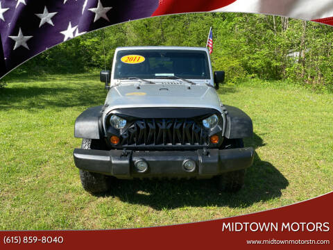 2011 Jeep Wrangler Unlimited for sale at Midtown Motors in Greenbrier TN