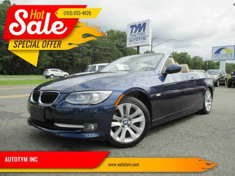 2013 BMW 3 Series for sale at AUTOTYM INC in Fredericksburg VA