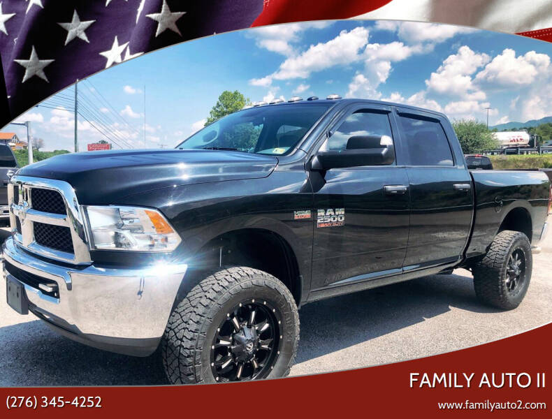 2018 RAM Ram Pickup 2500 for sale at FAMILY AUTO II in Pounding Mill VA