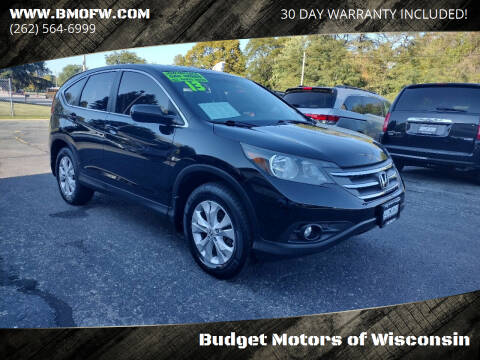 2013 Honda CR-V for sale at Budget Motors of Wisconsin in Racine WI