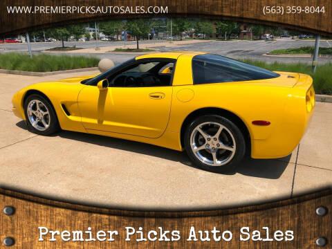 2002 Chevrolet Corvette for sale at Premier Picks Auto Sales in Bettendorf IA