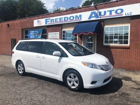 2017 Toyota Sienna for sale at FREEDOM AUTO LLC in Wilkesboro NC