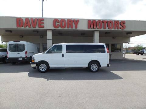2014 Chevrolet Express Passenger for sale at DAVE CORY MOTORS in Houston TX