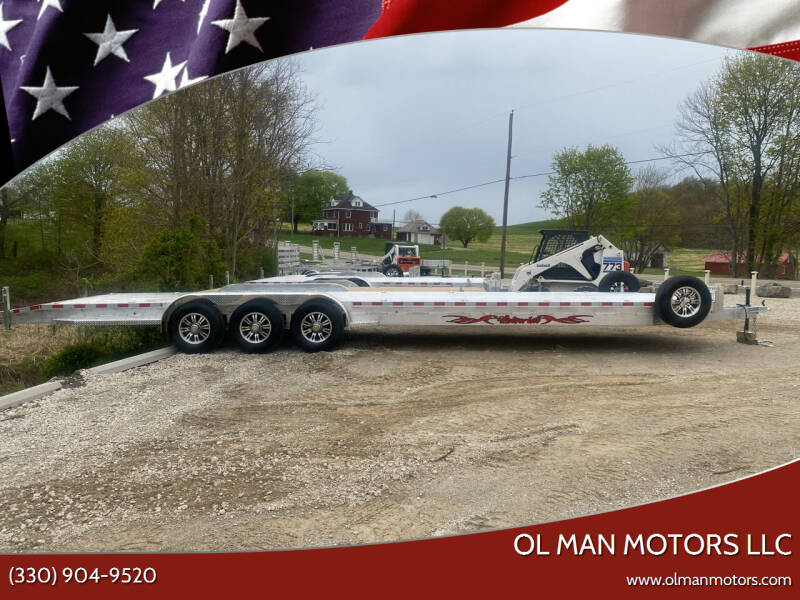 2021 WOLVERINE 7X34 TWO CAR TRAILER for sale at Ol Man Motors LLC in Louisville OH